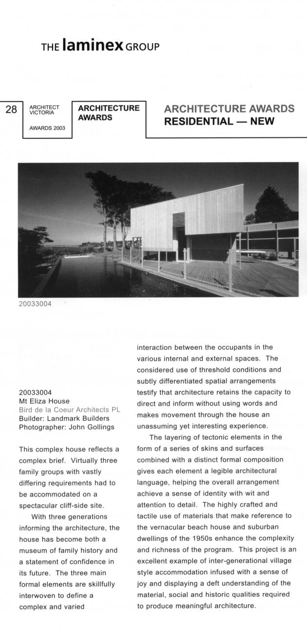 2003-architect victoria article